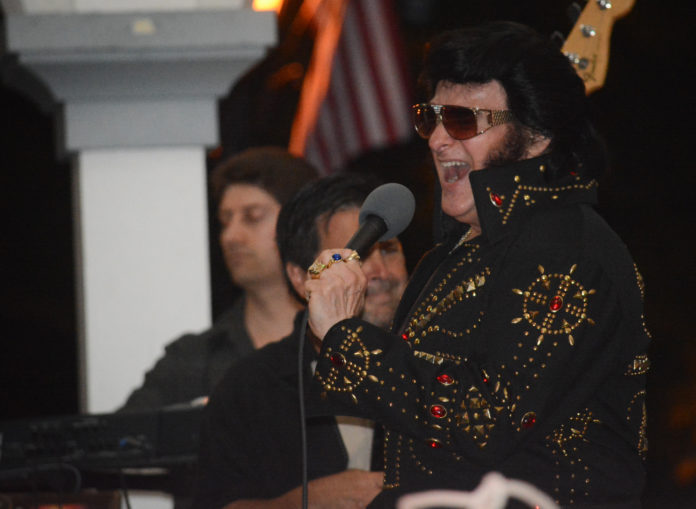 King Kai and the Creoles paid tribute to Elvis Presley at the Mary Jane Davies Green on Monday night. (Photo by Janelle Clausen)