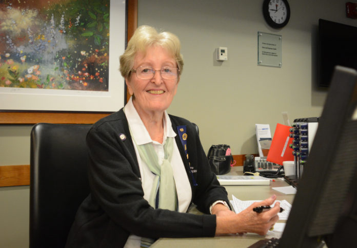 Irene Redleaf, a nearly lifelong resident of Great Neck, has volunteered with North Shore University Hospital for 16 years. (Photo by Janelle Clausen)