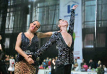 Nationally acclaimed ballroom dancers Artur and Alina Shvetsova will be visiting Great Neck Plaza. (Photo courtesy of Zimmerman/Edelson)