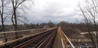 The Manhasset Viaduct will be the subject of repairs on July 21 and 22. (Photo courtesy of the MTA)