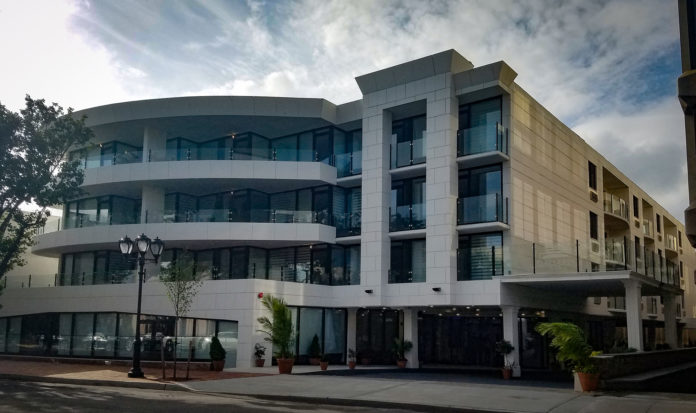 The Galleria, located along Grace Avenue, is home to 30 apartments and two new retail spaces. (Photo by Janelle Clausen)