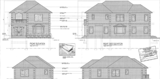 The Zoning Board of Appeals in Great Neck approved space variances for the construction of a home at 4 Moreland Court. (Photo from Estate Construction LLC)