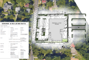 The site plan of the building. (Photo from Mojo Stumer)