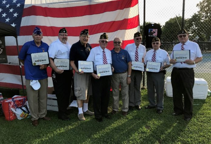 Assemblyman Anthony D'Urso presented citations to veterans honored in a recent concert. (Photo courtesy of Assemblyman Anthony D'Urso's office)