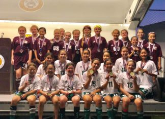 The Great Neck Green Storm took home gold on Sunday. (Photo courtesy of Melissa Zargari)