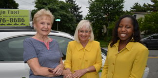 North Hempstead Supervisor Judi Bosworth and Council Member Viviana Russell with Project Independence Member resident Loretta Ammann. (Photo courtesy of the Town of North Hempstead)