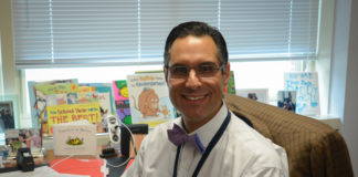 Michael Grimaldi is the new principal of E.M. Baker Elementary School. (Photo by Janelle Clausen)