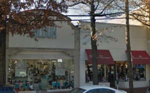 """Jay Corn, vice president of the Great Neck Plaza Business Improvement District, described Jildor and Camp and Campus – pictured here in 2016 – as having been """"destination stores"""" in Great Neck Plaza. Both have closed their doors. (Photo from Google Maps)"""