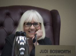 """Town Supervisor Judi Bosworth, pictured here at a previous meeting, credited the Aaa bond rating to conservative budgeting and """"focused"""" efforts by her financial team. (Photo by Janelle Clausen)"""