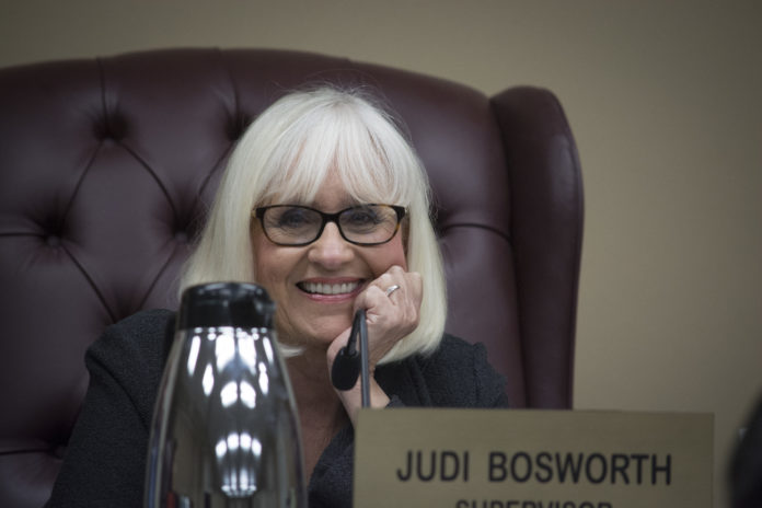Town Supervisor Judi Bosworth, pictured here at a previous meeting, credited the Aaa bond rating to conservative budgeting and
