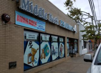 Middle Neck Pharmacy is ending its pharmaceutical business and is likely to close their doors early next year. (Photo by Janelle Clausen)