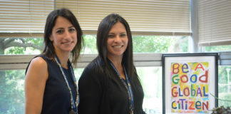 Sara Goldberg and Luciana Bradley are the new team heading Saddle Rock Elementary School. (Photo by Janelle Clausen)
