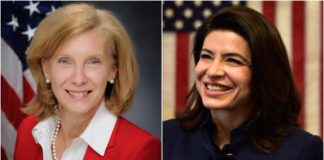 State Sen. Elaine Phillips, left, has out raised North Hempstead Town Councilwoman Anna Kaplan, according to campaign filing records. (Photos courtesy of Elaine Phillips and Anna Kaplan)