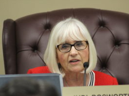 North Hempstead Town Supervisor Judi Bosworth, as seen at a previous meeting, spoke about the proposed 2019 budget on Thursday. (Photo by Rebecca Klar)