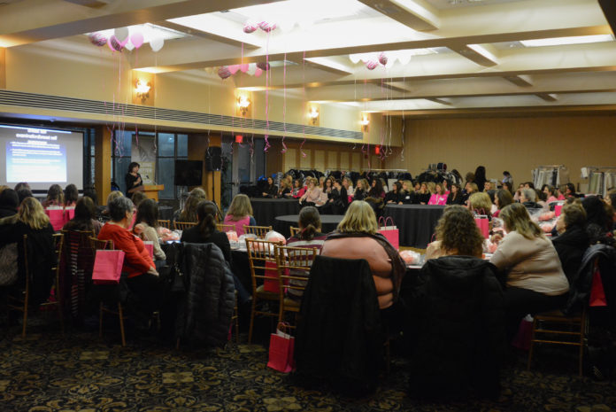 More than 100 women went to Temple Beth-El to attend an event about breast cancer hosted by Hadassah on Wednesday night. (Photo by Janelle Clausen)