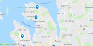 There will be two Nassau County capital projects each in the Great Neck, Port Washington and Roslyn areas. (Map by Janelle Clausen)
