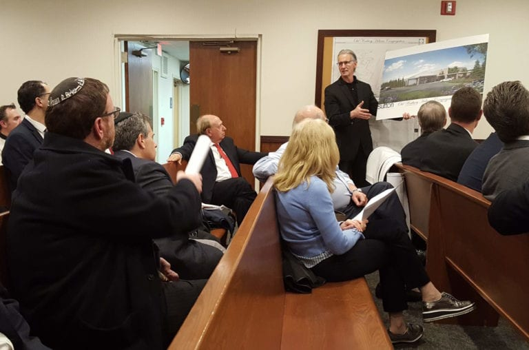 Old Westbury trustees review Hebrew congregation catering space plans