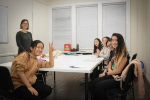 Students at Epic Enrichment Center take a break from a long leadership class. (Photo by Janelle Clausen)