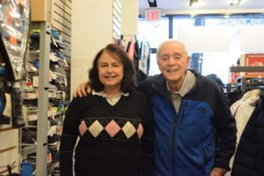 Rachel and Norman Lee, the owners of Sportset Tennis Junction, are celebrating 45 years of doing business in Great Neck Plaza. (Photo by Janelle Clausen)