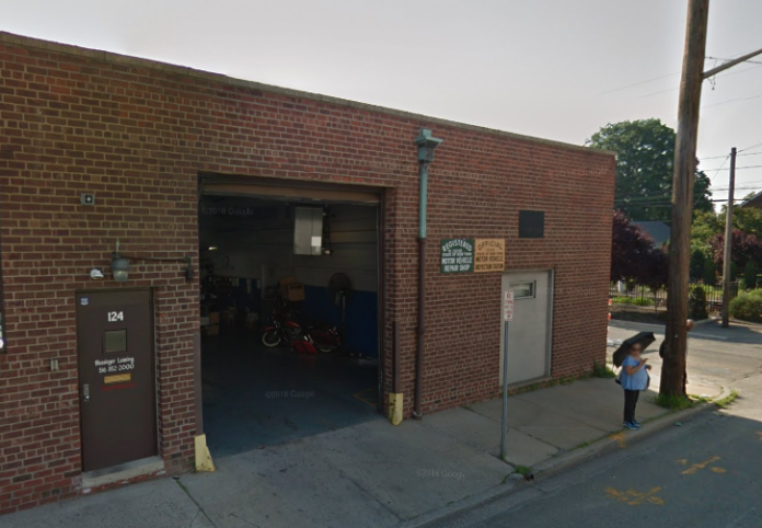This building on Covert Avenue will be demolished as part of the Long Island Rail Road's third track project. (Photo from Google Maps)