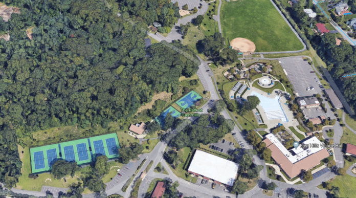 The Park at East Hills is where Mayor Michael Koblenz plans to build a new indoor sports complex. (Photo courtesy of Google Maps)