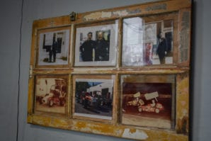 A collection of family photos are proudly displayed in the office. (Photo by Janelle Clausen)