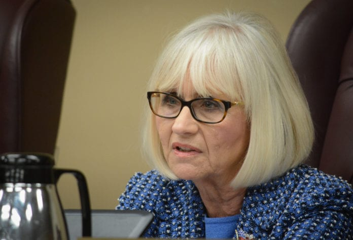 Town Supervisor Judi Bosworth and the town council voted unanimously to ban recreational marijuana sales in the town on Tuesday night. (Photo by Janelle Clausen)