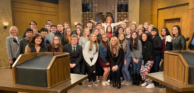 People's Court visit for H. Frank Carey students