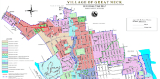 The proposed zoning change would create the Corridor Incentive Overlay District, which includes parts of Middle Neck Road and East Shore Road. (Photo courtesy of the Village of Great Neck)