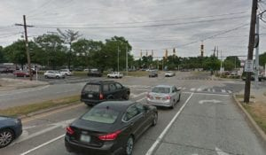The intersection of Union Turnpike eastbound and New Hyde Park Road northbound. (Photo courtesy of the Lakeville Estates Civic Association)