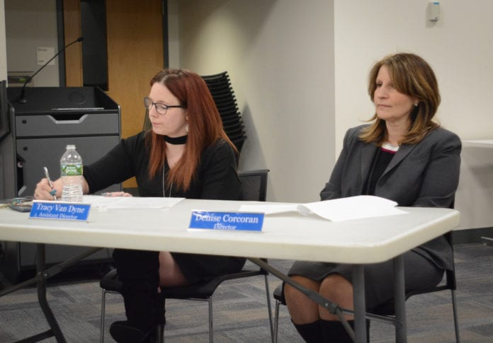 Assistant Director Tracy Van Dyne was appointed acting library director at the Great Neck Library's board meeting on Monday, following the acceptance of Library Director Denise Corcoran's resignation. (Photo by Janelle Clausen)