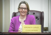 "Veronica Lurvey said that if you told her six months ago she'd be sitting in Anna Kaplan's old Town Council seat, she'd be very ""surprised."" (Photo by Janelle Clausen)"