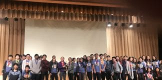Five Science Olympiad teams from the Great Neck schools competed in a regional competition. Four of the five were among the top 10. (Photo courtesy of the Great Neck Public Schools)