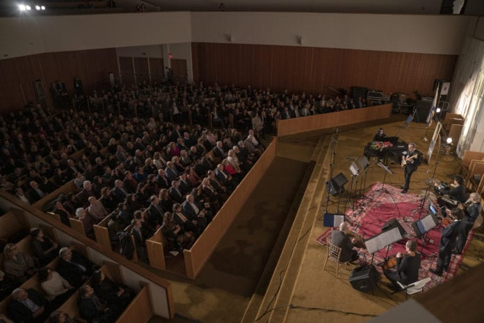 It was a full house at Temple Beth-El of Great Neck for a celebration of the Persian New Year, or Nowruz, on Saturday night. (Photo by Larry Hahn/HR Media Group)