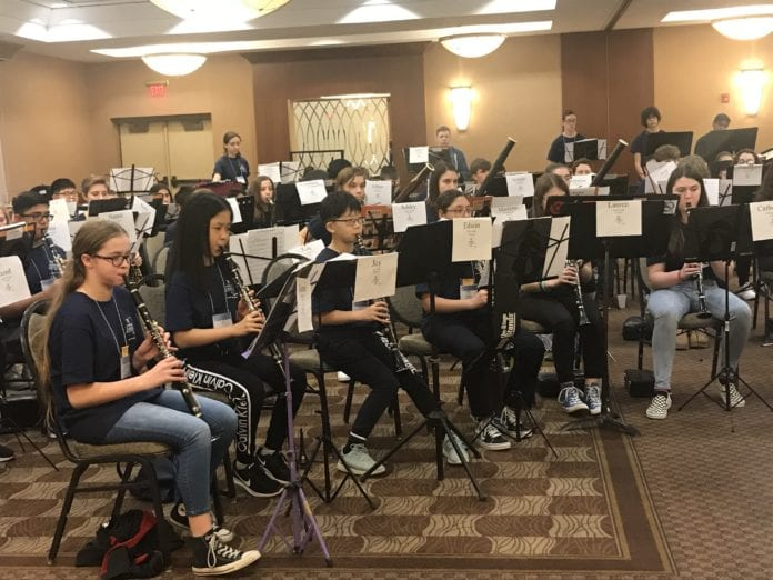 Herricks students perform in the Middle School Honor Band. (Photo courtesy of Herricks Public Schools)