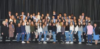 North High School students were recognized by the Board of Education on March 11, 2019. (Photo by Irwin Mendlinger)