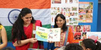 Parkville students 'visited' India and several other countries as part of the World's Fair earlier this month, with the help of parent volunteers. (Photo courtesy of Great Neck Public Schools)