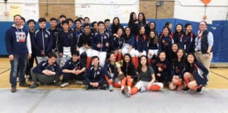 South High School's fencing teams are champions. (Photo courtesy of the Great Neck Public Schools)