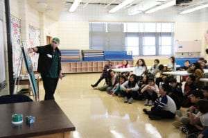 DEC representatives presented to students at Saddle Rock School. (Photo courtesy of the Great Neck Public Schools)
