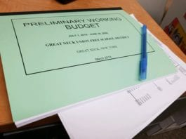 School officials said there could be some changes to the preliminary budget in response to issues raised at the meeting. (Photo by Janelle Clausen)