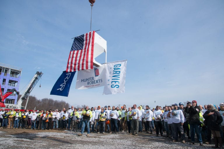 The Beacon at Garvies Point topping-out ceremony salutes local businesses