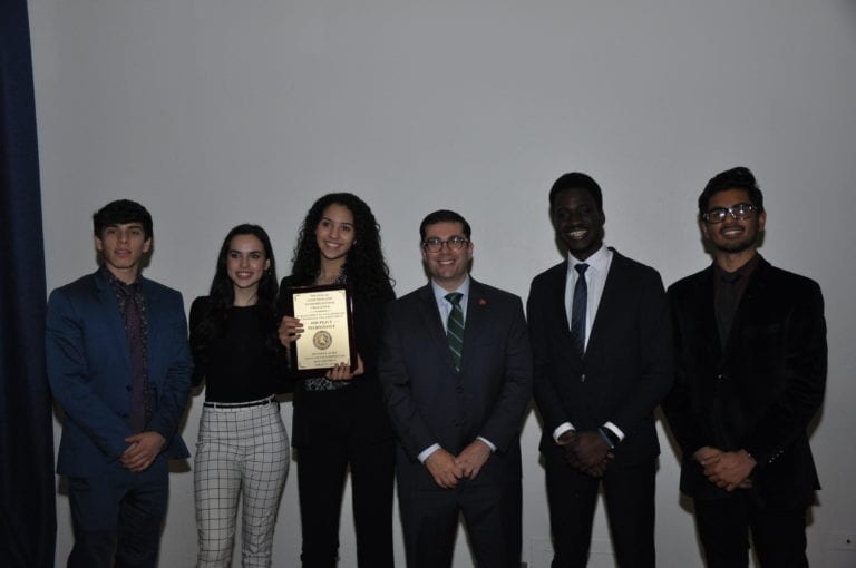 Floral Park Memorial High School's Team Beta Wins Third Place at the Comptroller's Entrepreneurial Challenge