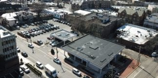 The space above Chase bank, located at 22 Grace Ave. in Great Neck Plaza, is for sale. (Photo courtesy of Cushman & Wakefield)