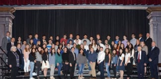 South High students were recognized by the Board of Education on April 1, 2019. (Photo by Irwin Mendlinger)