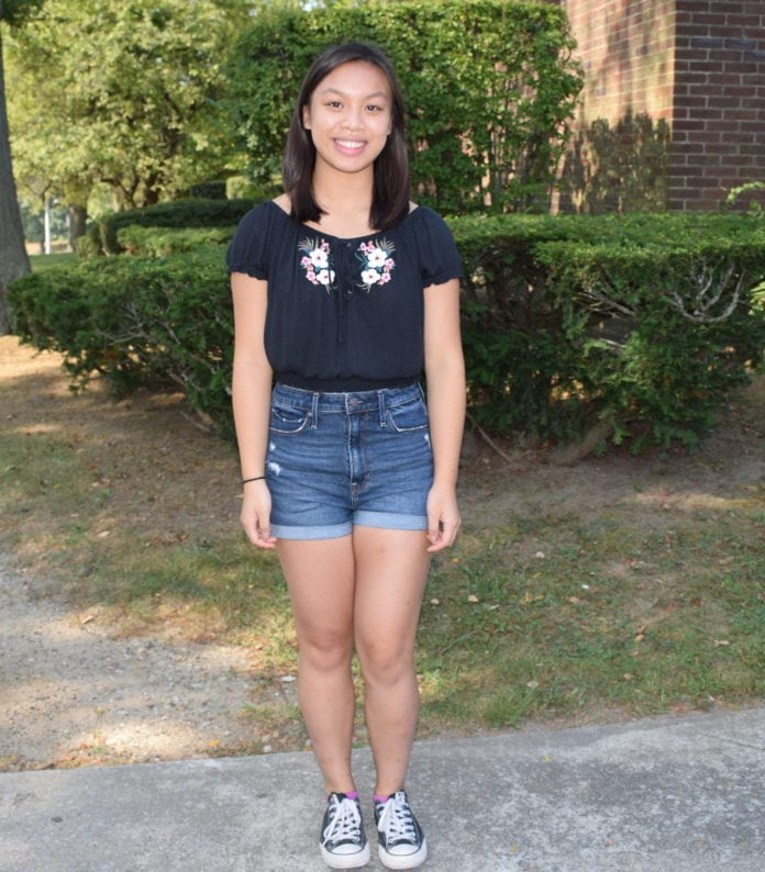 Joanna Lau is the winner of the International Poetry of Resistance Contest. (Photo courtesy of Herricks Public Schools.)