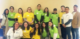 Students from the Great Neck high schools attended Nassau County's wellness summit. (Photo courtesy of the Great Neck Public Schools)