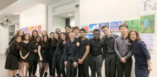 The North High A Capella Choir and Yale Whiffenpoofs performed together at the Gold Coast Arts Center. (Photo courtesy of the Great Neck Public Schools)