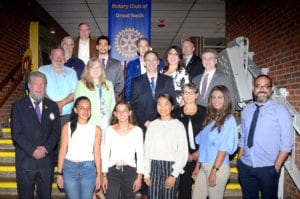 North Middle students were recognized by Rotary Club of Great Neck. (Photo by Irwin Mendlinger)