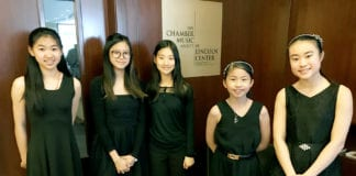 Students from Great Neck South Middle School performed at the Lincoln Center on Thursday. (Photo courtesy of Great Neck Public Schools)