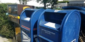 Town officials and police are urging residents to be careful when mailing checks. (Photo by Janelle Clausen)